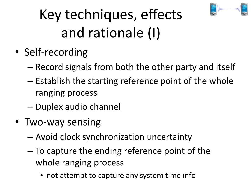 Key techniques, effects