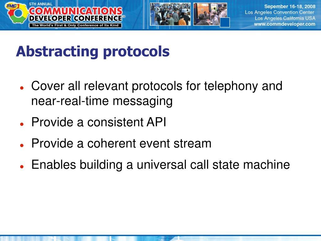 Abstracting protocols