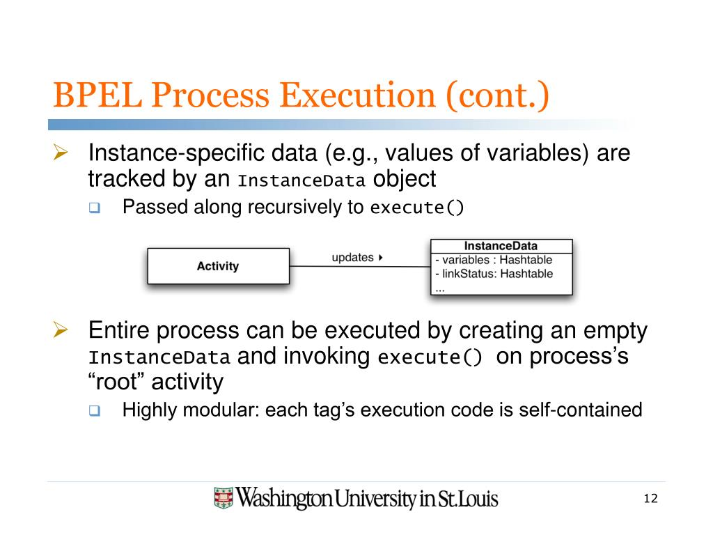 BPEL Process Execution (cont.)