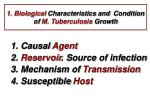 1 biological characteristics and condition of m tuberculosis growth