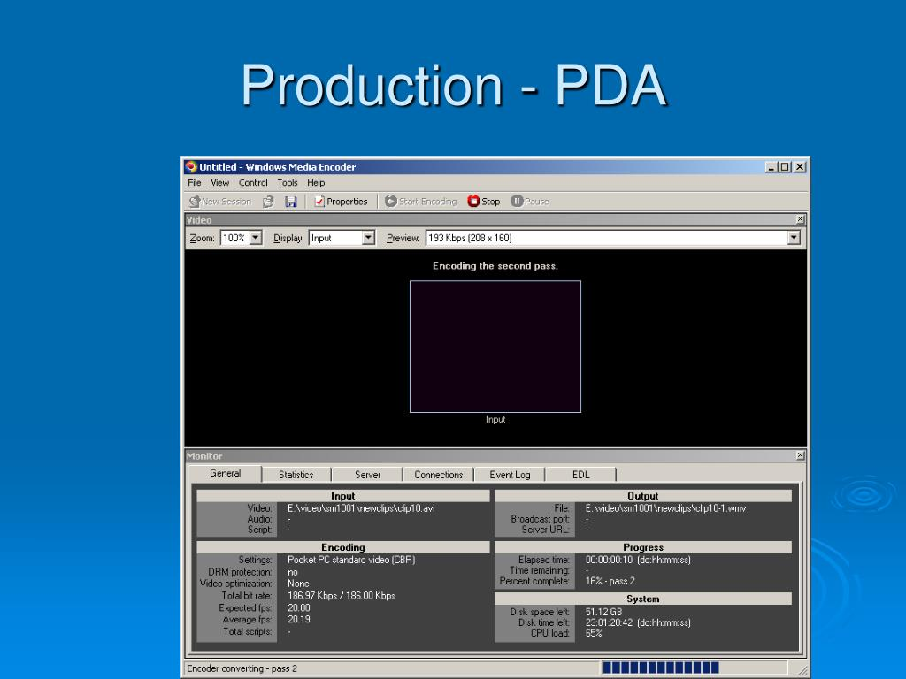Production - PDA