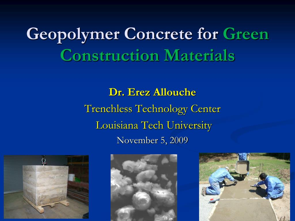 Geopolymer Concrete PPT   Xpowerpoint