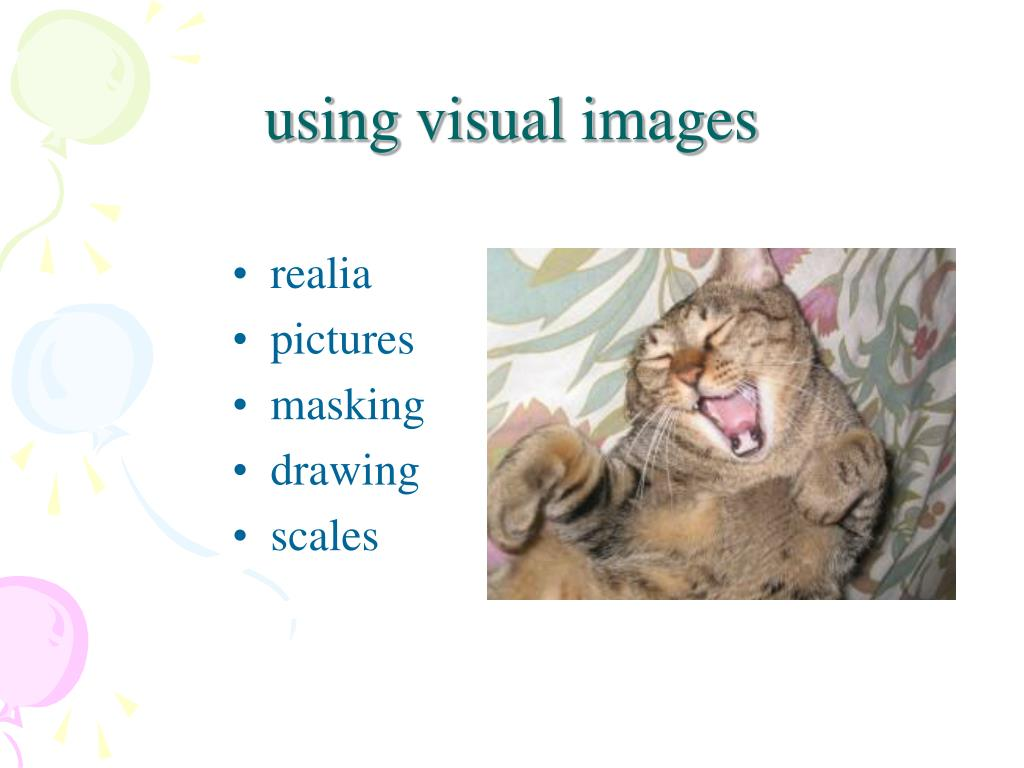 using visual images