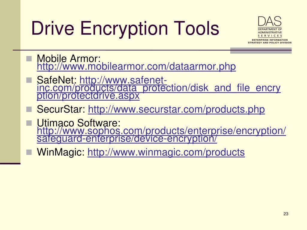 Drive Encryption Tools