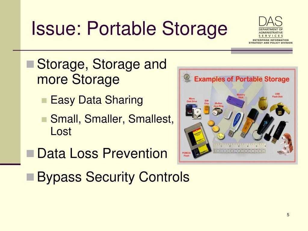 Issue: Portable Storage