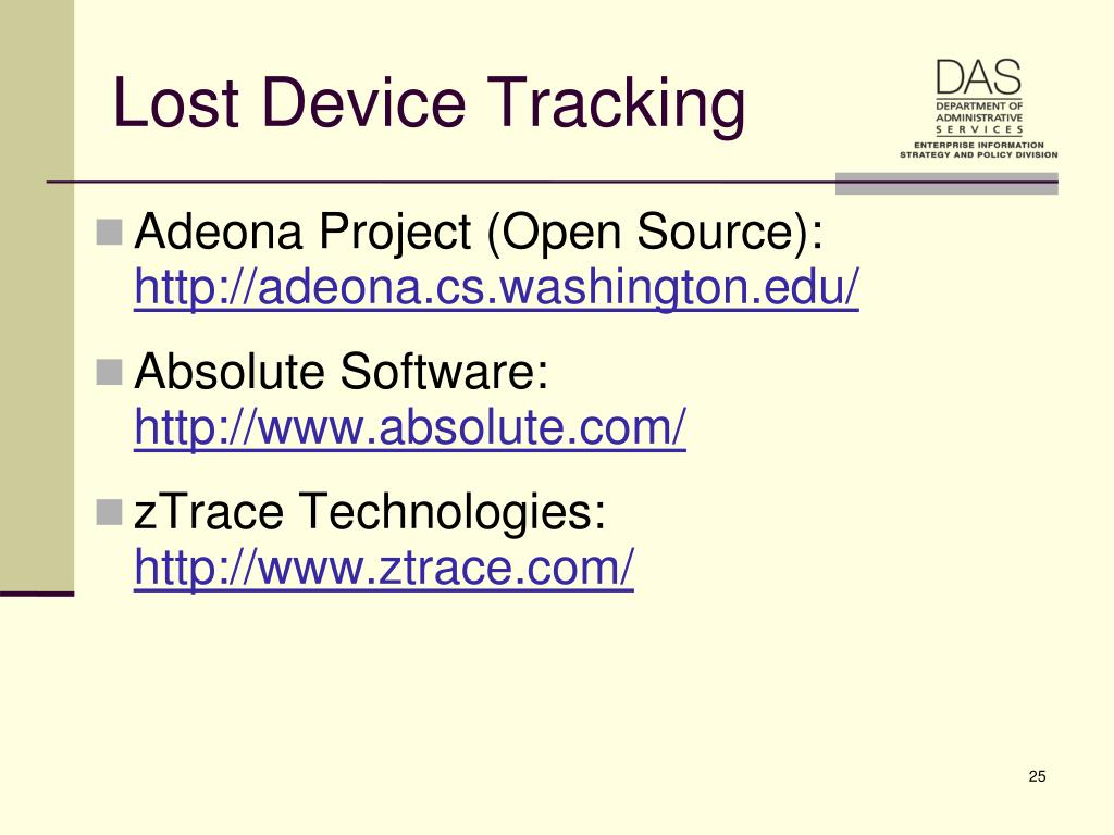 Lost Device Tracking