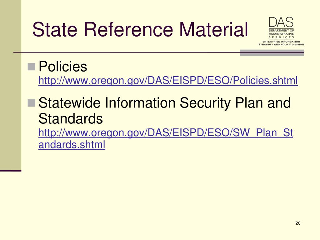 State Reference Material