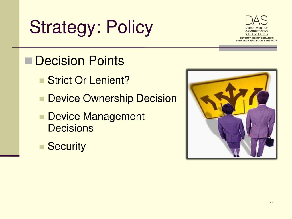 Strategy: Policy
