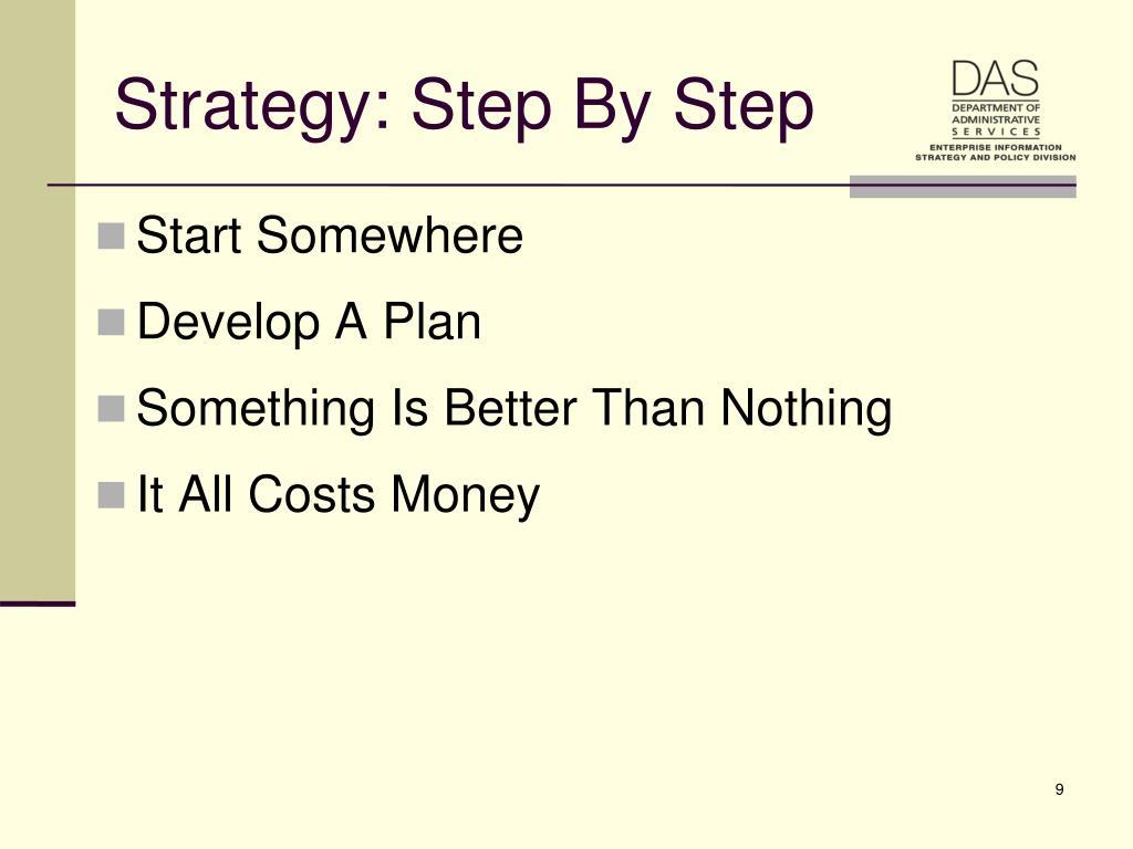 Strategy: Step By Step