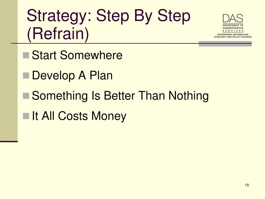 Strategy: Step By Step (Refrain)