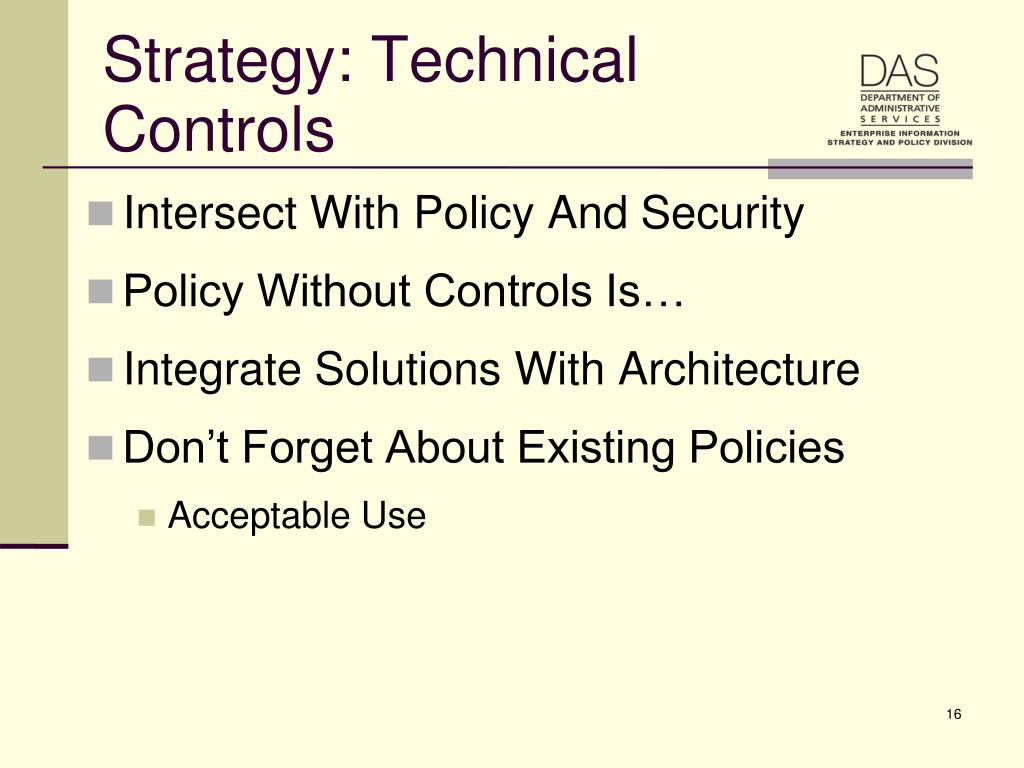 Strategy: Technical Controls