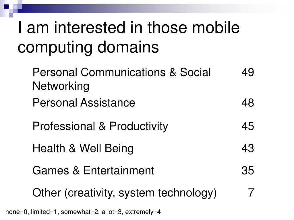 I am interested in those mobile computing domains