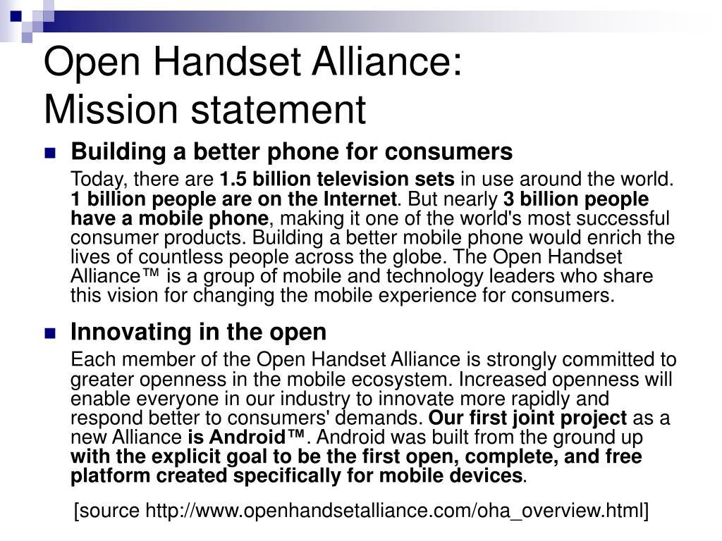Open Handset Alliance: