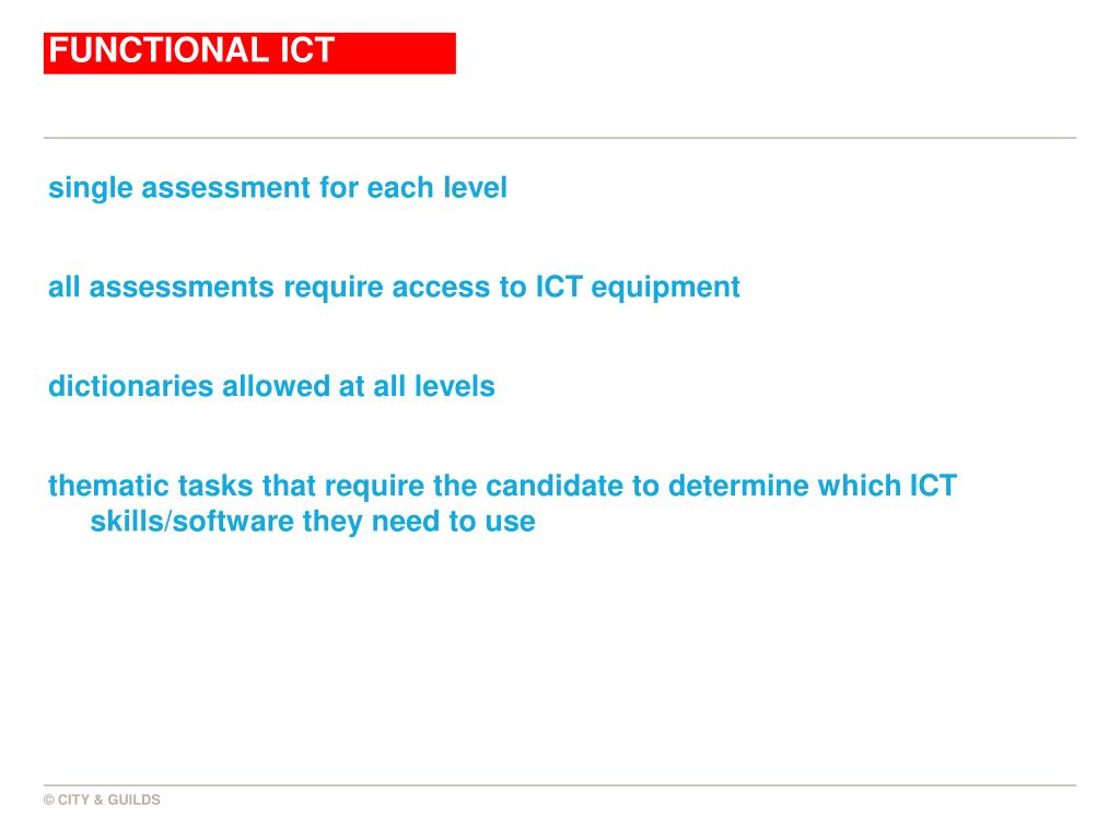 FUNCTIONAL ICT