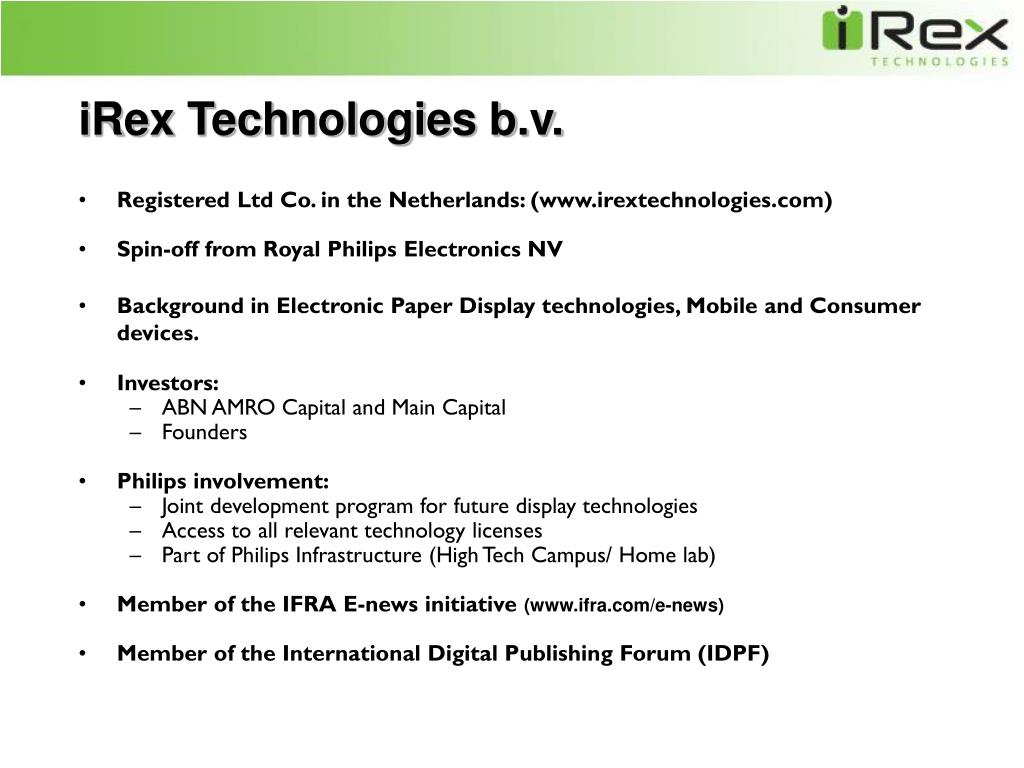 iRex Technologies b.v.