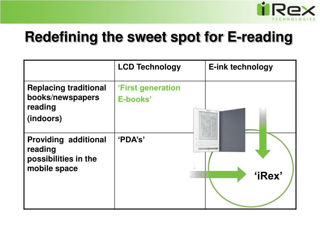 Redefining the sweet spot for E-reading