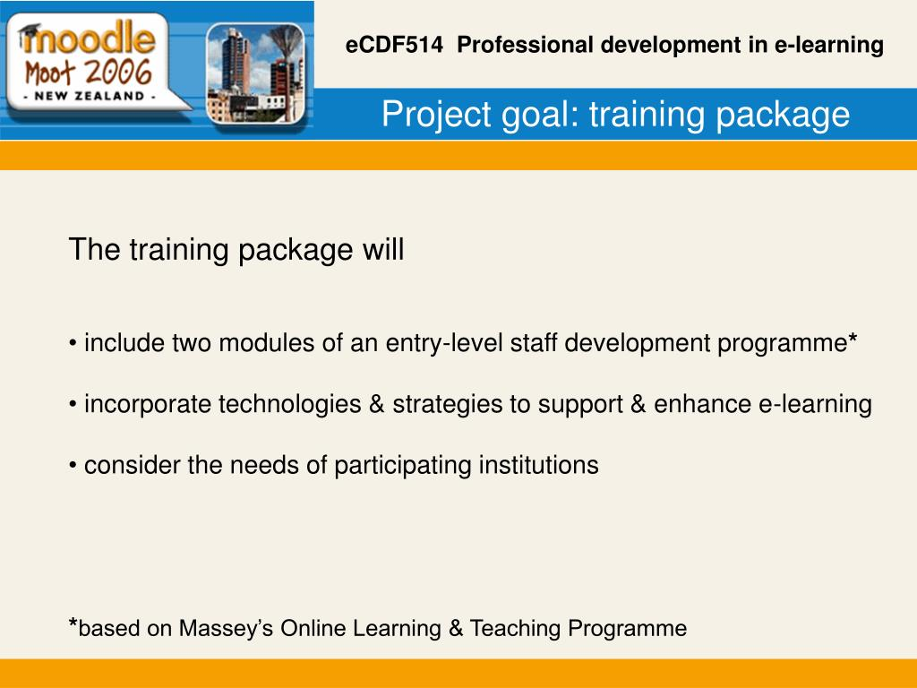 Project goal: training package