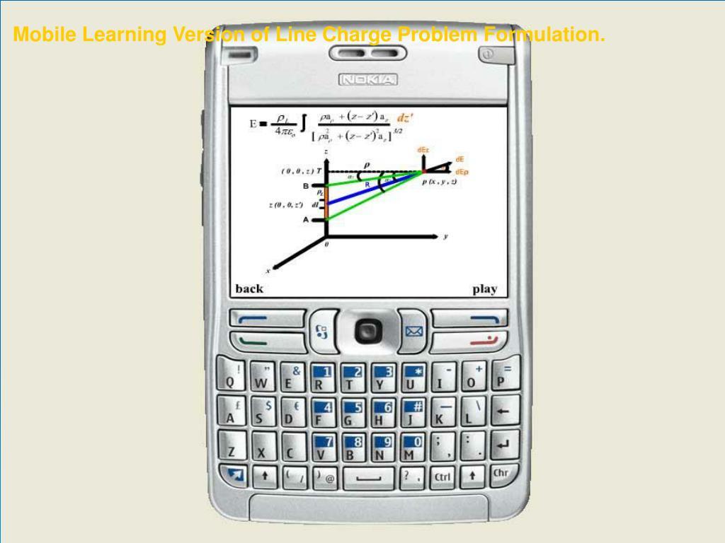 Mobile Learning Version of Line Charge Problem Formulation.