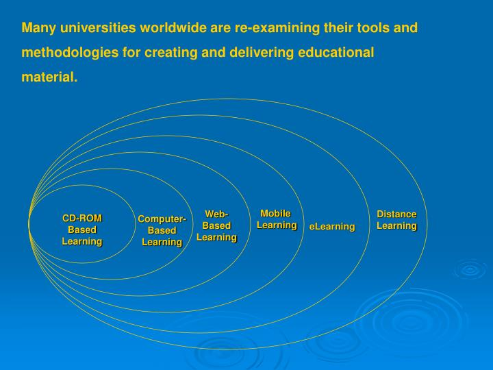 Many universities worldwide are re-examining their tools and