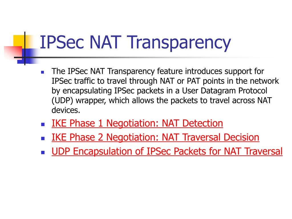 IPSec NAT Transparency