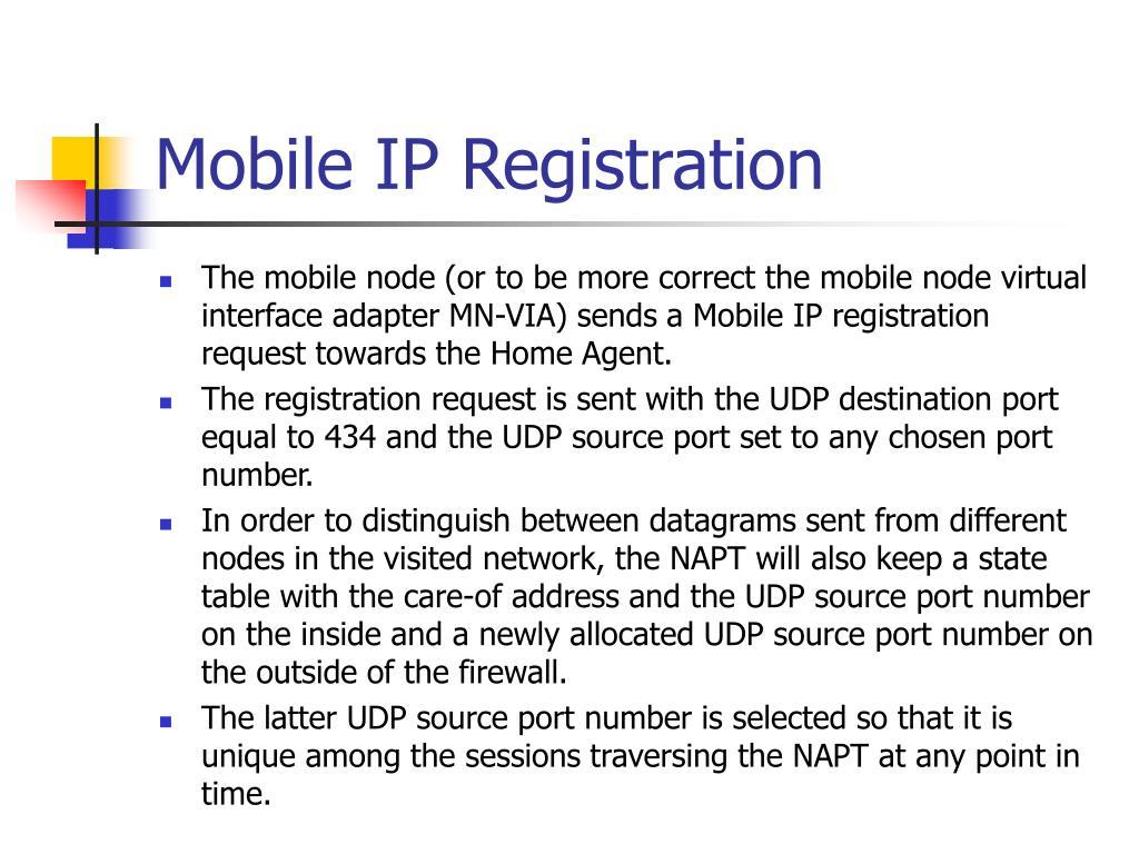 Mobile IP Registration
