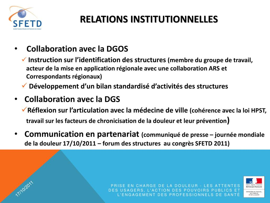 relations institutionnelles
