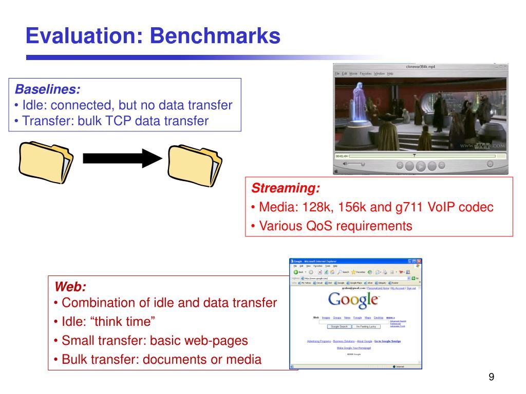 Evaluation: Benchmarks