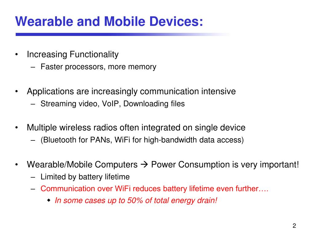 Wearable and Mobile Devices: