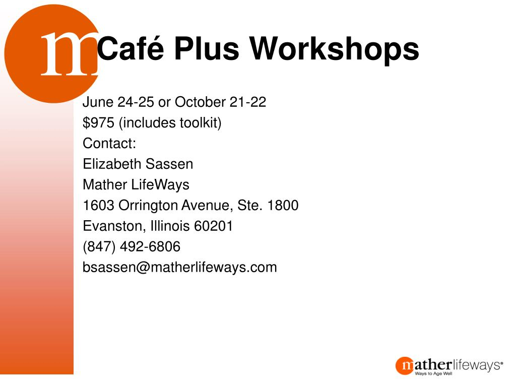 Café Plus Workshops