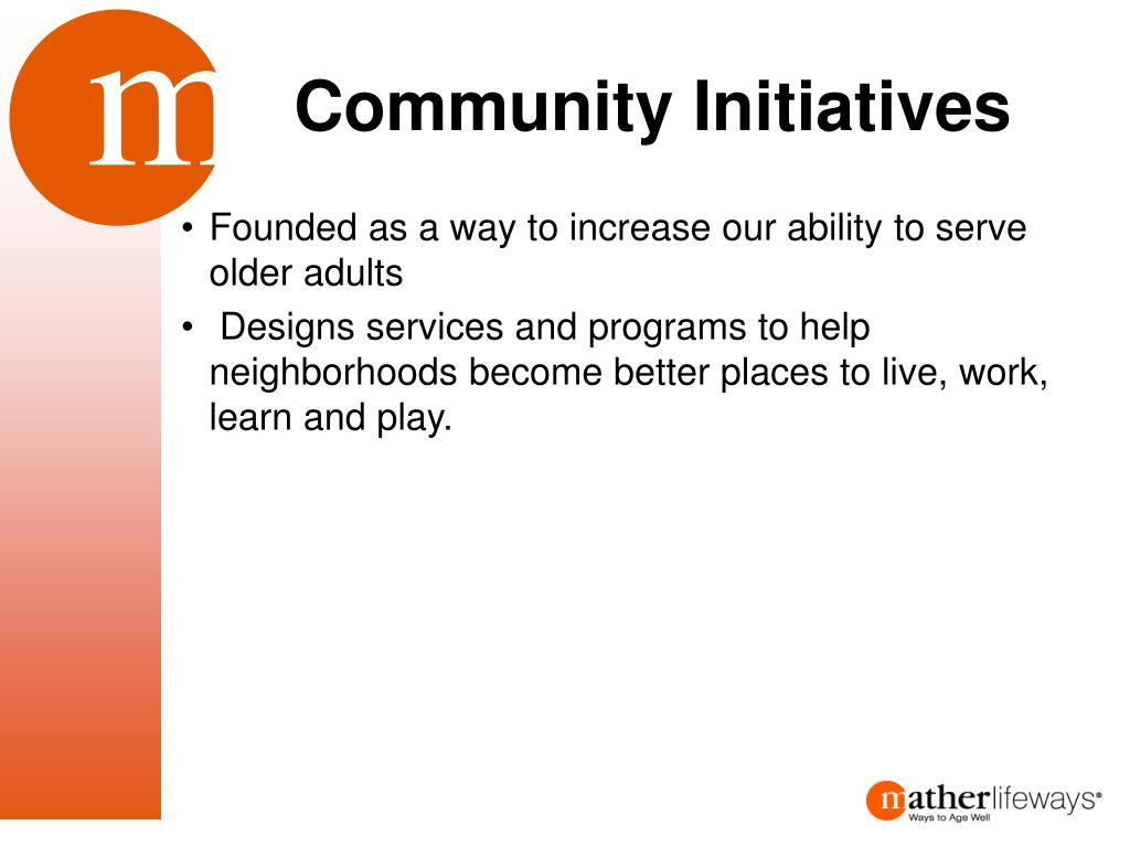 Community Initiatives