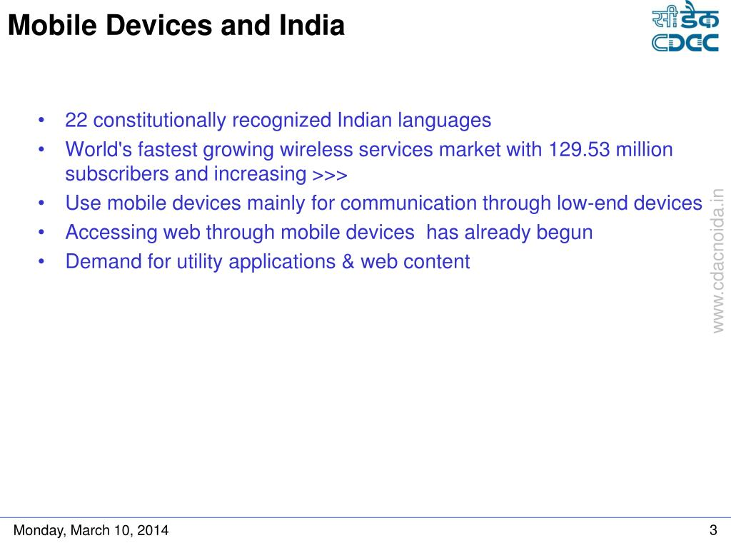 Mobile Devices and India