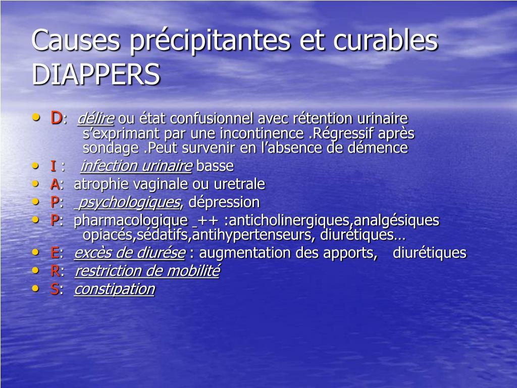 Causes précipitantes et curables DIAPPERS
