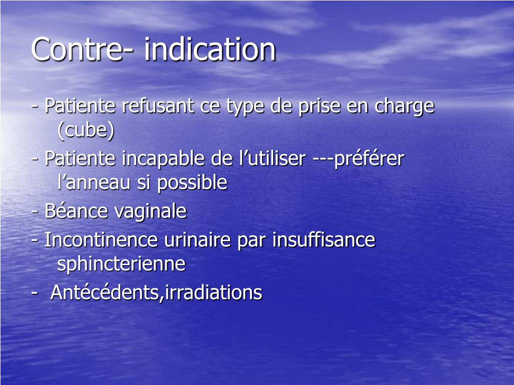 Contre- indication