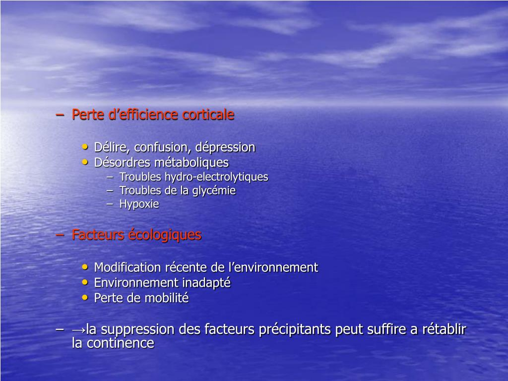 Perte d'efficience corticale