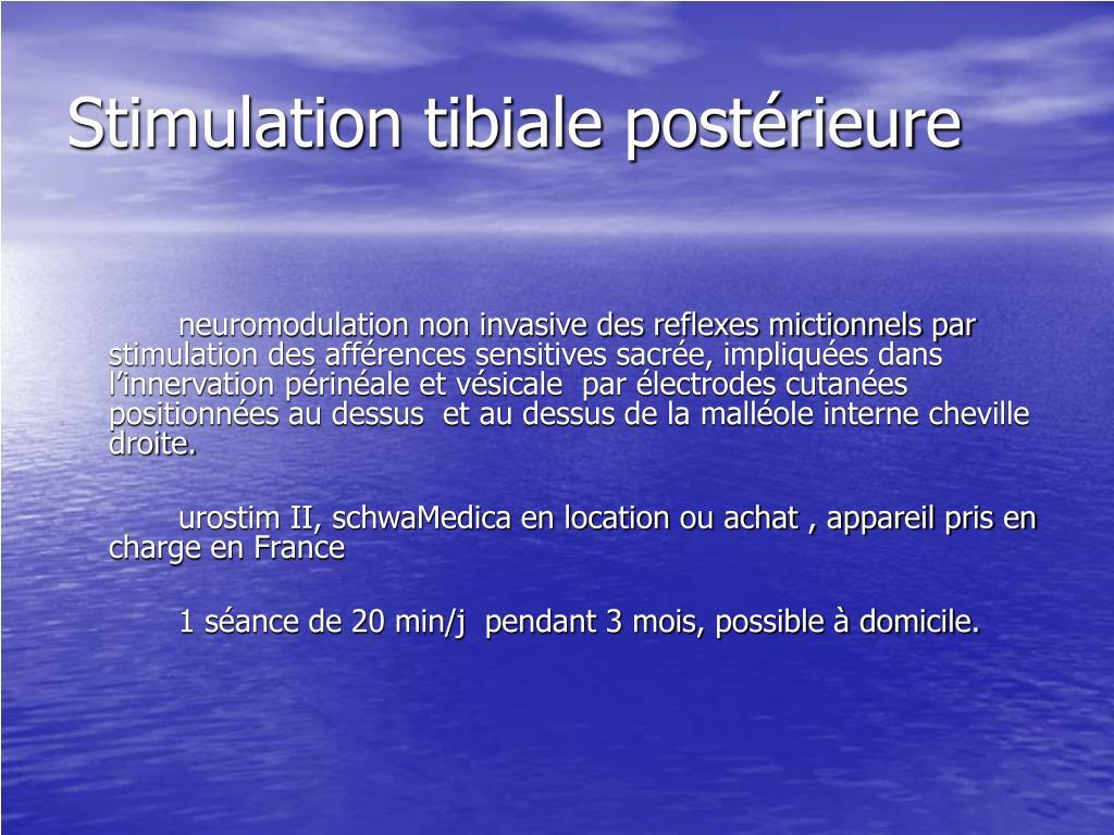 Stimulation tibiale postérieure