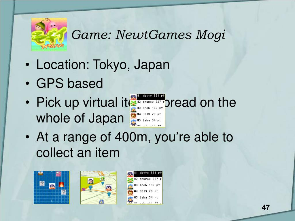 Game: NewtGames Mogi