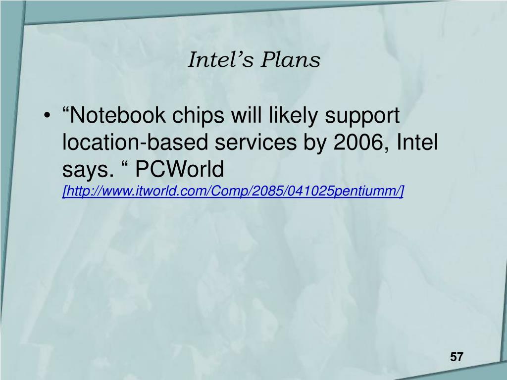 Intel's Plans