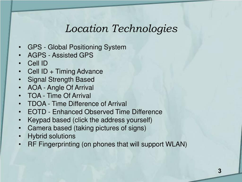 Location Technologies