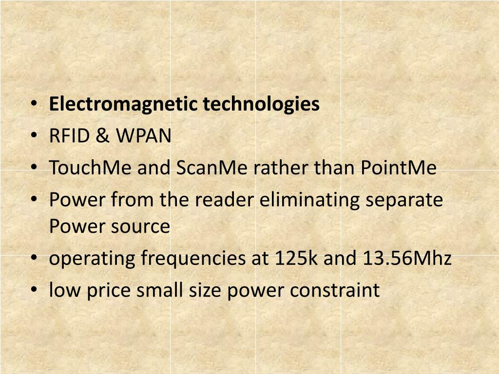Electromagnetic technologies
