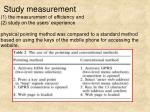 study measurement