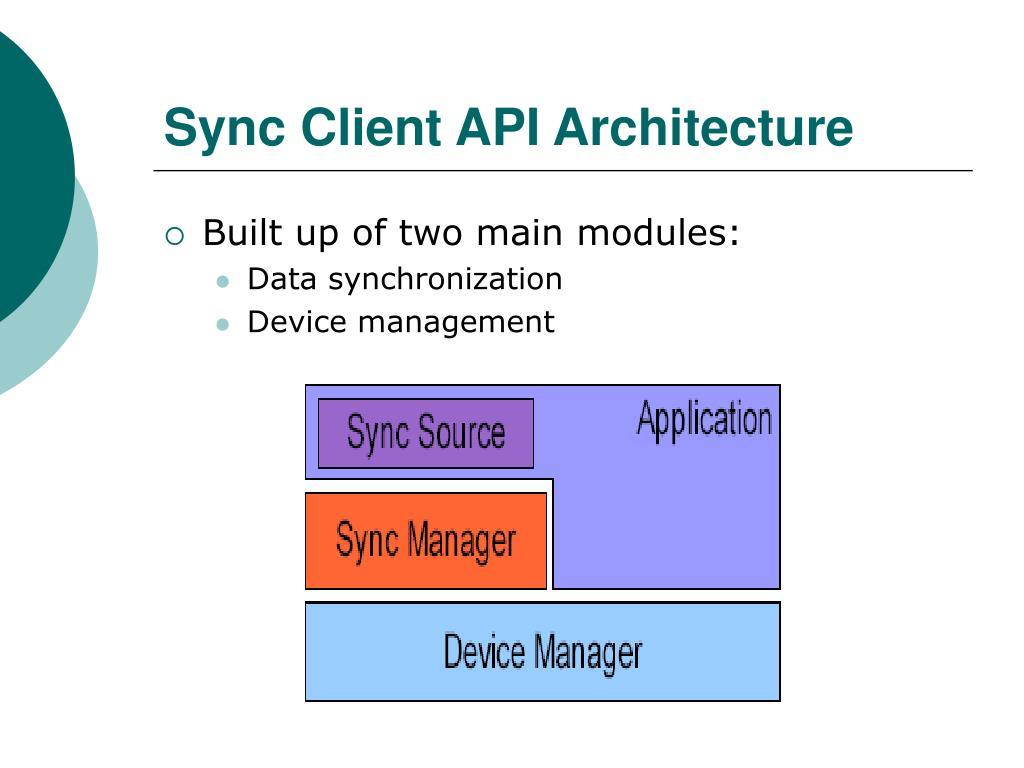 Sync Client API Architecture