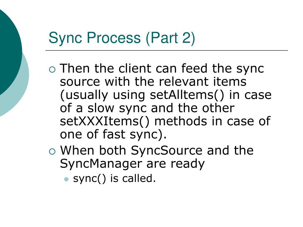 Sync Process (Part 2)