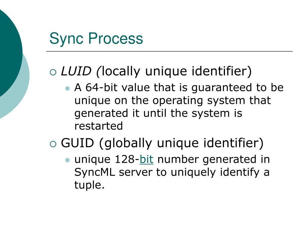 Sync Process