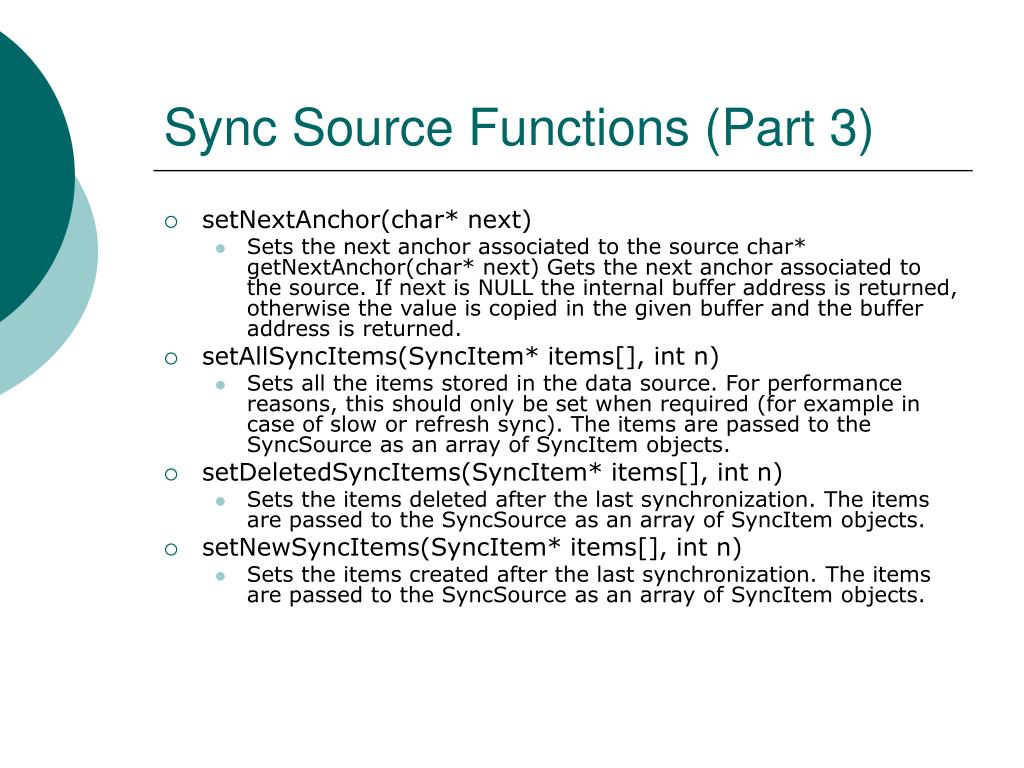 Sync Source Functions (Part 3)
