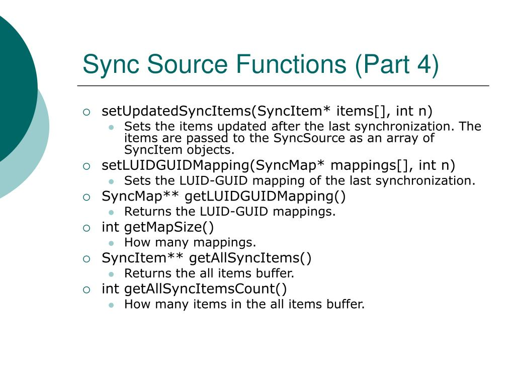 Sync Source Functions (Part 4)