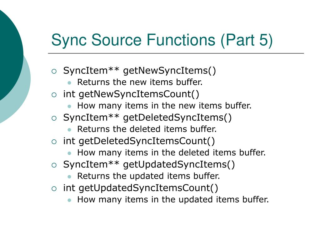 Sync Source Functions (Part 5)