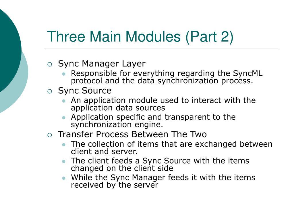 Three Main Modules (Part 2)