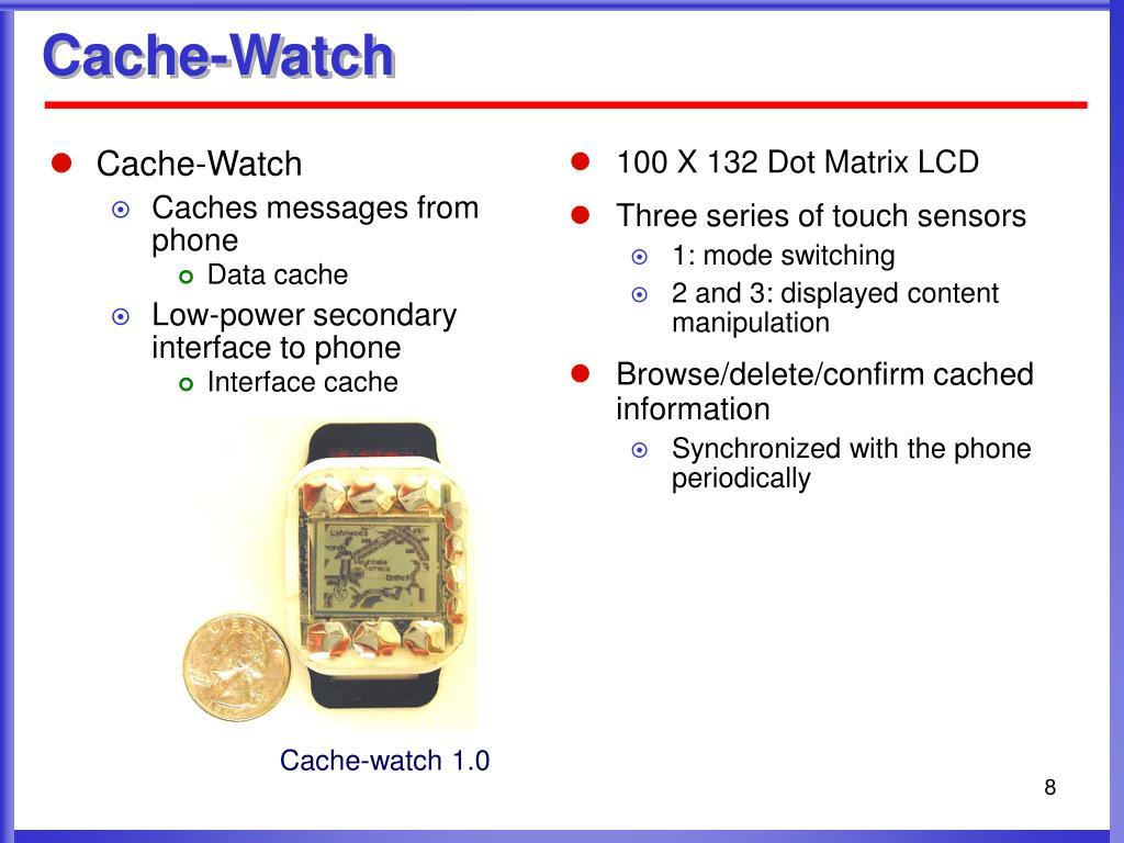 Cache-Watch