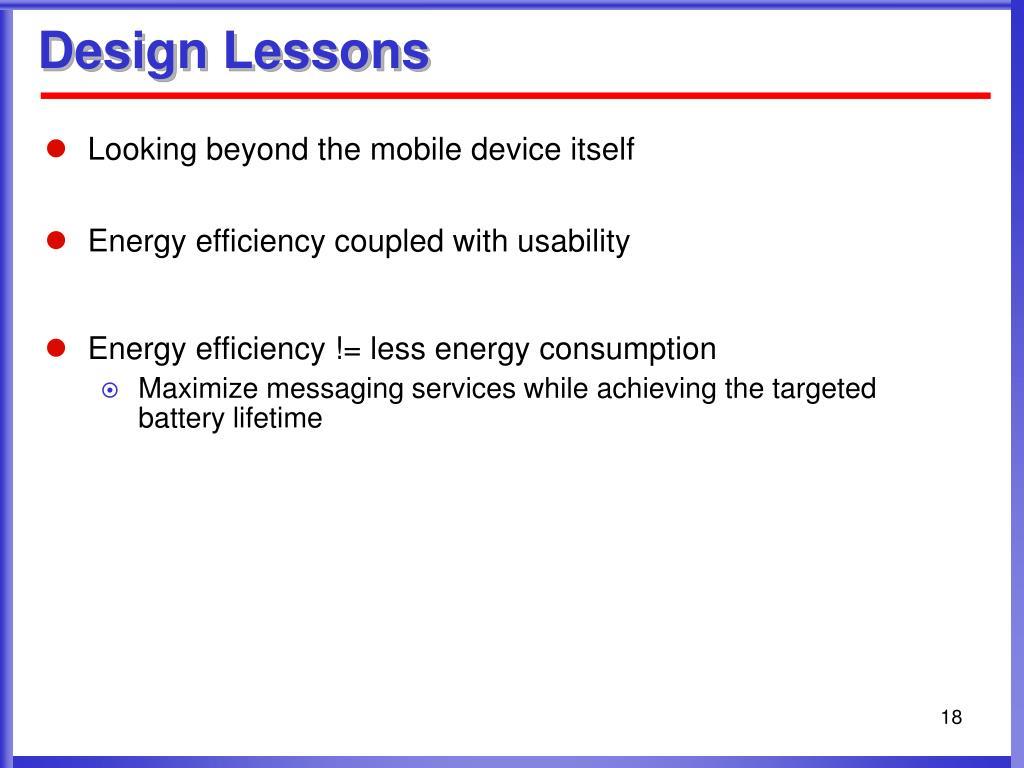 Design Lessons