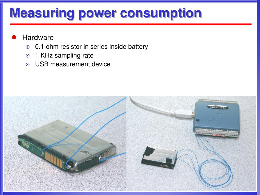 Measuring power consumption